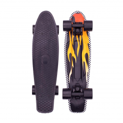 Penny Boards '22'  Flame Black/Yellow