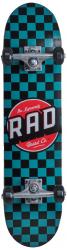 RAD Dude Crew Skateboard Checkers Blue 7-25