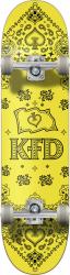 KFD Bandana Complete Skateboard 7.75 Yellow