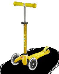 Micro Mini Deluxe LED ( Luminous wheels ) (Yellow)