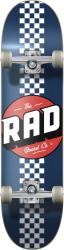 RAD Checker Stripe Complete Skateboard 7.75 Navy
