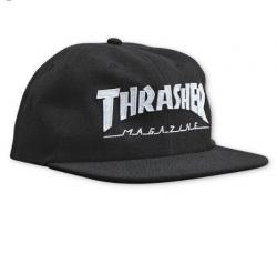 Thrasher snapback Mat Logo Felt Black