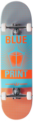 "Blueprint Complete skateboard 8.25"" Grey/Orange"