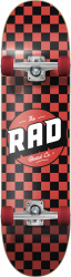 RAD Checkers Complete Skateboard 7.75 Red