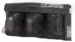 SFR Triple Pads Set AC760 (L size) (red/Black)