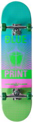 "Blueprint Complete skateboard 8"" Green/Pink"