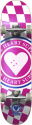 Heart Supply Insignia Check Complete Skateboard 7.75 Pink