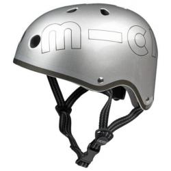 Micro Helmet Printed (M size) (Silver) M (53-58)