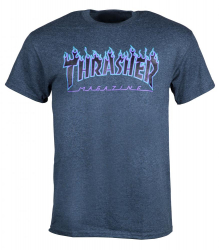 Thrasher T-shirt Flame Grey S size