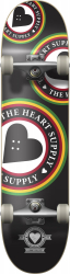 Heart Supply Orbit Logo Complete Skateboard 7.75 Black
