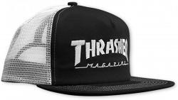 Thrasher snapback Logo Mesh BlackWhite