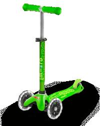 Micro Mini Deluxe LED ( Luminous wheels ) (Green)