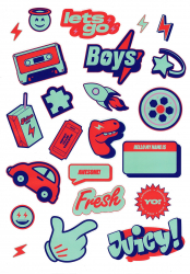 Sticker pack Boys