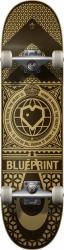 """Blueprint Complete skateboard 8"""" Black/Gold"""