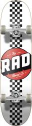 RAD Checker Stripe Complete Skateboard 7.75 White
