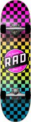 RAD Dude Crew Skateboard Neon Fade