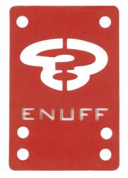 Enuff Skateboards Shock Pads 1mm Red