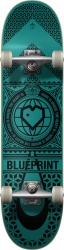 Blueprint Complete skeitbord 8-25-Black-Teal
