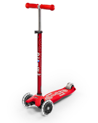 Micro Maxi Deluxe LED ( Luminous wheels ) (Red)