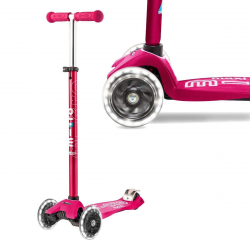 Micro Maxi Deluxe LED ( Luminous wheels ) (Pink)