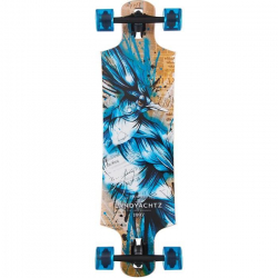 Landyachtz Maple Drop Hammer Longboard (Blue)