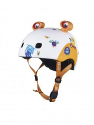 Micro Helmet Monsters (M size) (White/gold)