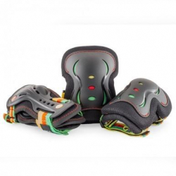 SFR Triple Pads Set AC760 (L size) (Green/Black)